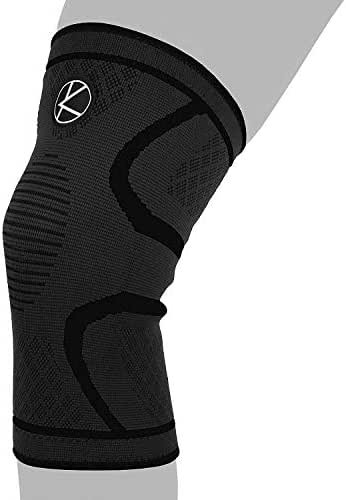 Compression Knee Sleeve for Runners- Best Knee Support for Arthritis Pain, Meniscus Tear, ACL, Pain, Injury, Knee Sleeve for Sleeping, Under Brace. Non-Slip Plus Size Knee Brace for Men, Women