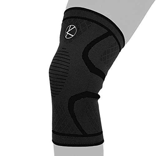 Compression Knee Sleeve for Runners- Best Knee Support for Arthritis Pain, Meniscus Tear, ACL, Pain, Injury, Knee Sleeve for Sleeping, Under Brace. Non-Slip Plus Size Knee Brace for Men, Women from KARM