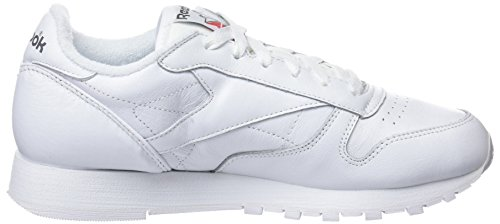 Archive Basses white Blanc red Femme Sneakers carbon Reebok Classic Leather a4qEEI
