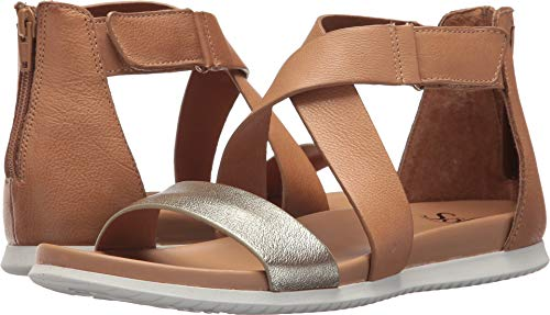 - Sofft Women's Fiora Light Sand/Satin Gold Cow Oily Vege/Grid Metallic 7.5 M US