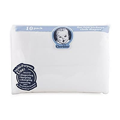 Gerber Birdseye Count Flatfold Cloth Diapers, White by Home Comforts