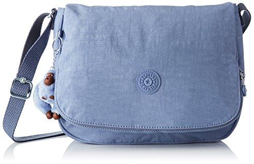 Kipling Earthbeat M, Borsa A Donna Tracolla, 30x22,5x10,5 cm Blu (timide C bleu)