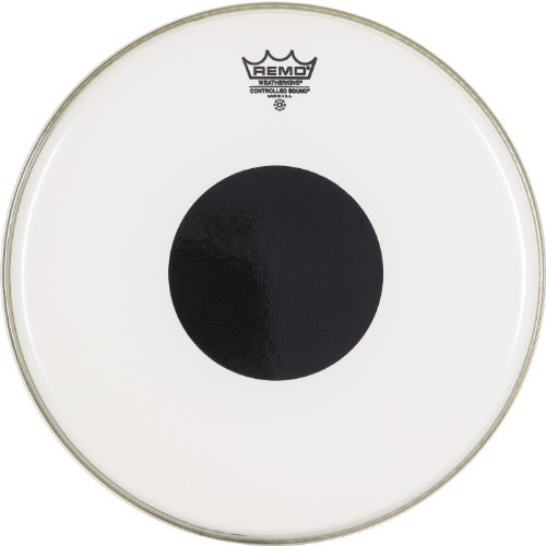 Remo CS0213-10 Smooth White Controlled Sound Drum Head - 13-Inch - Black Dot on Top