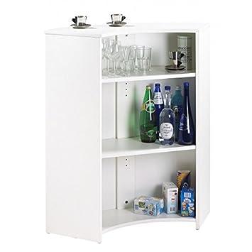 SIMMOB - Mueble encimera, Mueble Bar, Color Blanco - Colores - Vasos y Burbujas 940: Amazon.es: Hogar