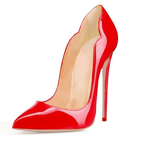 Edefs Davanti Chiuse Rosso Tacco Donna Scarpa Classico Ritaglio Scarpe Col High Heels pg1xwqpZ