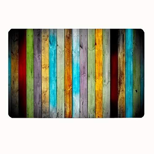 Bath Rugs and Mats, Color Striped Non-Slip Absorbent Bathroom Mat Kitchen Runner Floor Mat Carpet (1 Piece, 20 x 31 Inch) ()