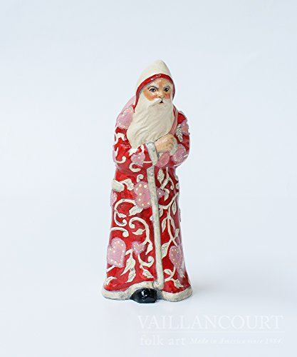 Vaillancourt Folk Art Valentine Santa, used for sale  Delivered anywhere in USA