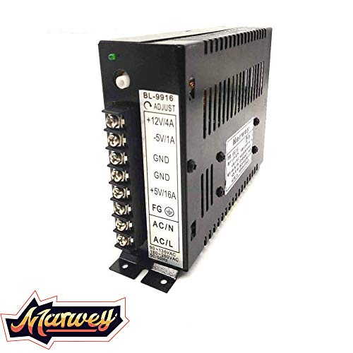 Marwey 16A Arcade Power Supply Switching 110/220V for Arcade Video Games Machine Cabinets Console Upright and Cocktail Universal Durable New