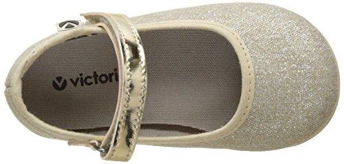 Victoria Mercedes Lurex, Zapatillas Unisex Niños Plateado (Platino)