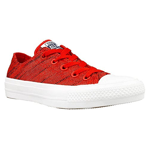 Converse Mens All Star Hero Chuck II Low Knit Red/Black/White Sneaker - 11 Men - 13 Women (Hero Converse)