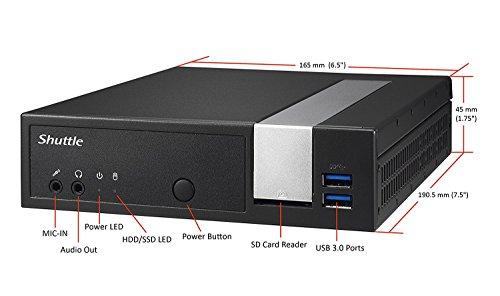Shuttle XPC Slim DX30, Intel Apollolake Celeron J3355, Gigabit LAN, Dual COM Port, Fanless Design, DDR3L SODIMM Max 16GB by Shuttle (Image #7)'