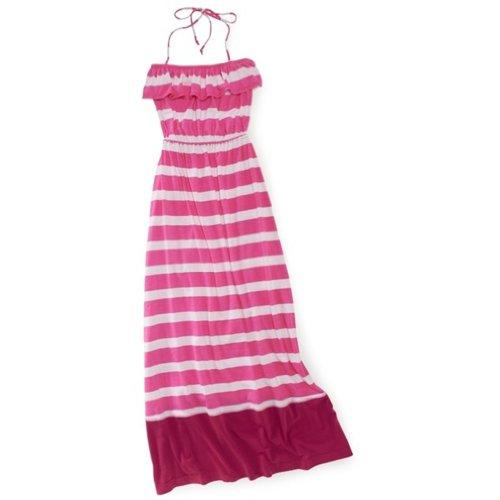 Aeropostale Womens Striped Strapless Dress