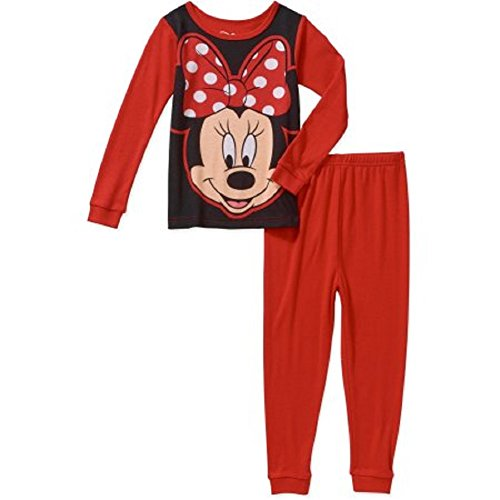 Disney Minnie Mouse 2 Piece Pajamas Set Pants Shirt Sleepwear Baby and (2 Piece Disney Minnie Mouse)