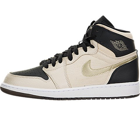 JORDAN 1 Ret Hi Prem Hc Big Kids Style, Prl White/Metallic Gold Star/Black, 5.5