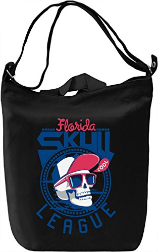 Florida skull league Borsa Giornaliera Canvas Canvas Day Bag| 100% Premium Cotton Canvas| DTG Printing|