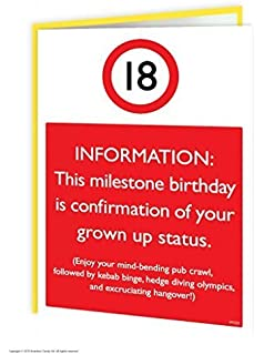 18th Birthday Card FunnyTeenagers Brain Perfect For Son Daughter
