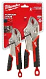 Milwaukee 48-22-3402 Torque Lock Curved Jaw Locking Pliers Set (2 Pieces)