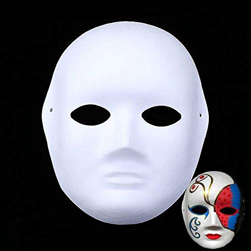 SYLOTS White Full Face Masks - 12pcs Halloween Mask DIY Masquerade Party Mask(12pcs Female)]()