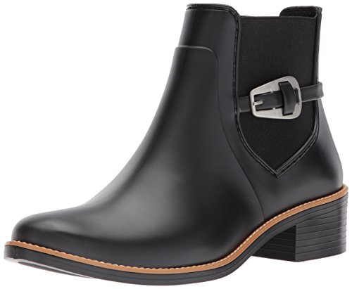 Bernardo Women's pansie Rain Boot, Black Rubber, 8M M US