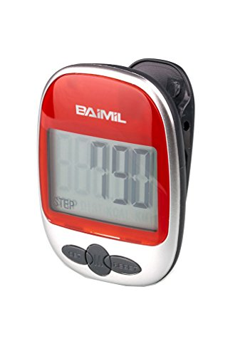 BAIMIL AOCE-01 LCD Digital Pocket Pedometer Mini Walking Run Step Calorie Distance Calculation Clip-on Steps Counter (Mini Pedometer)