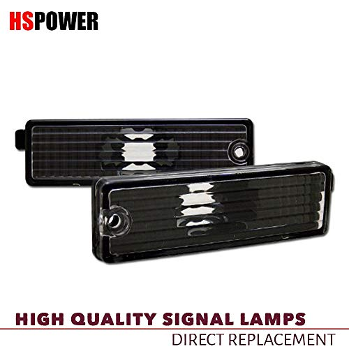HS Power Black Clear Bumper Lights Fit 1993-2002 for Chevy Camaro/Firebird | Front/Rear Side Marker K2