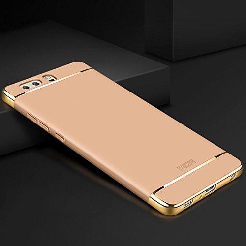 ZITEZHAI-Fashion case MOFI for Huawei P10 Plus Three-Paragraph Shield Full Coverage Protective Back Cover Case (Color : Gold)]()
