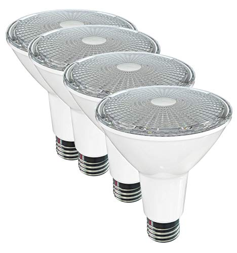 SleekLighting LED Par 30 Long Neck,11 Watt(75 Watt Equivalent),Warm White -2700K,800Lumens,Dimmable Wide Flood Bulb, Indoor/Outdoor, Recessed Lighting, Spot Light,E26,ES&UL Wet Location 4Pack