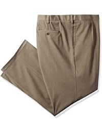 Men's Big and Tall Easy Khaki Pant-Pleated