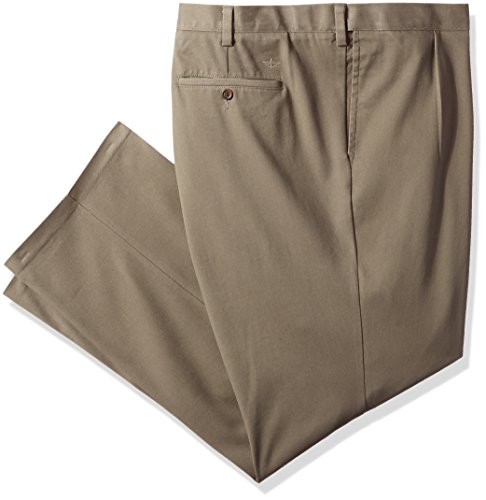 Dockers Men's Big and Tall Classic Fit Easy Khaki Pants - Pleated, Dark Pebble (Stretch), 48 32 Big And Tall Mens Pants