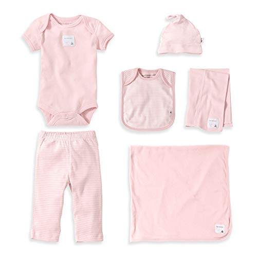 Burt's Bees Baby - Girls Take Me Home Gift Set - 6-Piece Bee Essentials Bundle Pink