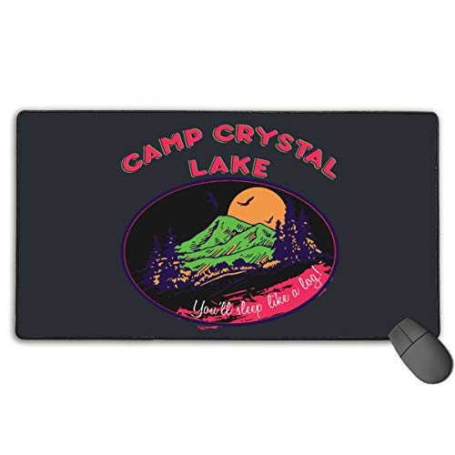 Camp Crystal Lake Horror Movie Halloween Costume Gaming Mouse Pad 30x15.7 Inches (75x40 -