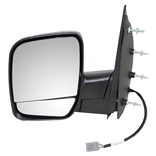 Drivers Power Side View Mirror Dual Glass Textured Replacement for Ford Van 2C2Z17683AAB AutoAndArt