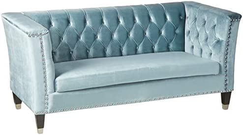 ACME Honor Blue-Gray Velvet Loveseat