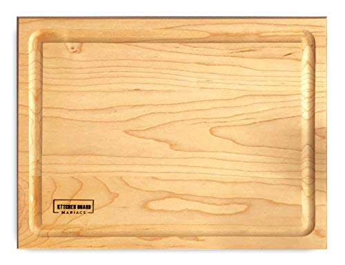 Maple Wood Chopping Board - Maple Wood Cutting Board for Kitchen 14x10 | Hardwood Kitchen Board Serving as a Wooden Block for Your Kitchen