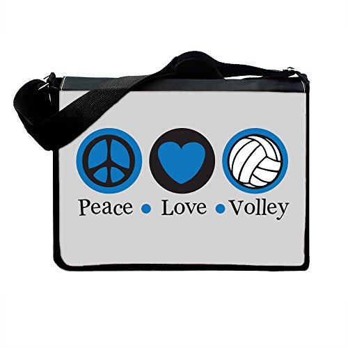 Insomniac Arts - Peace Love and Volleyball - Messenger & Laptop Computer Bag - Multi - One Size