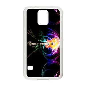 [Tony-Wilson Phone Case] For Samsung Galaxy S5 -IKAI0446062-Love Guitar Pattern