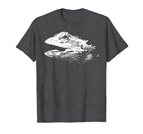 - Mens Simple Bearded Dragon T-Shirt XL Dark Heather