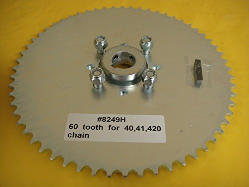 """Go Cart Sprocket and Hub for 1"""" Axle ,60 Tooth for #40,41,420 Chain WAO8249h"""