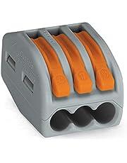 Wago 222-4133Conductor Bloques de conexión de conductores con palancas, 4mm máximo