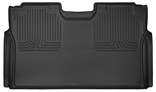 - Husky Liners 53491 Black X-act Contour 2nd Seat Floor Liner Fits 2015-2019 Ford F-150 SuperCrew Cab, 2017-2019 Ford F-250/f-350 Super Duty Crew Cab Pickup WITHOUT factory storage box