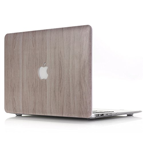 a Case Hard Shell L2W MacBook Pro 15.4 inch Retina Wood Texture Pattern Rubber Coated For Apple MacBook Pro with Retina Display, 15 inch(Model: A1398)[Wood Texture Pattern MW-2] (Rubber Like Texture Shell)