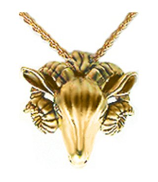 (Sale - Ram Head Pendant, From Our Museum Jewelry Reproductions)