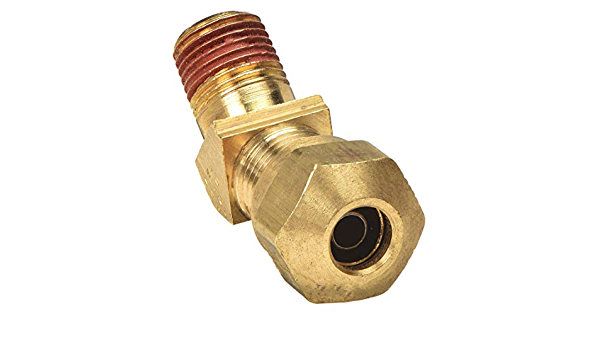 Pack of 10 1//4 Compression Tube x 1//4 Compression Tube Parker Hannifin 62NTA-4-pk10 Air Brake-NTA Union Fitting Brass
