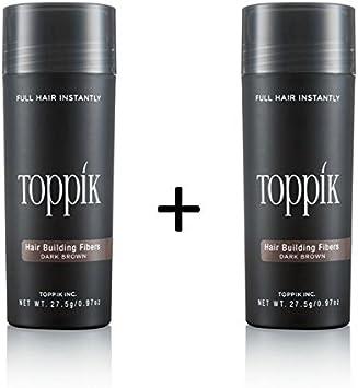 2 x TOPPIK 27,5 g. Fibras de Pelo - Densificador cabello Pérdida Micro, Color Del Artículo:Moreno Claro: Amazon.es: Belleza