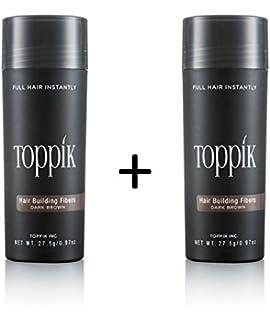 2 x TOPPIK 27,5 g. Fibras de Pelo - Densificador cabello Pérdida Micro