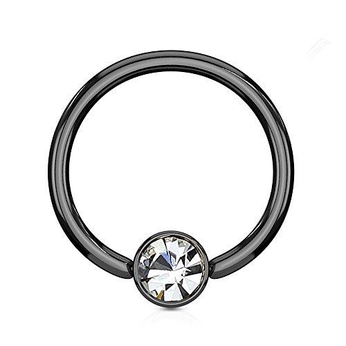 4 gauge pink gem earrings - 5