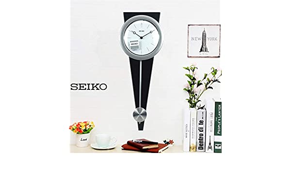 Amazon.com: Imoerjia Creative and Stylish Living Room Wall Clock, Silver and Black: Home & Kitchen