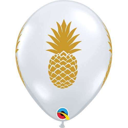 Qualatex Latex Balloon 057440 Pineapple - Diamond Clear, - Latex Inch Balloons Diamond 11 Clear