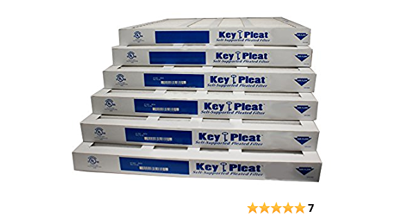 0.75 Thick Mechanical MERV 8 19.5 Height Pack of 12 Sterling Seal KP-5251083340 Purolator Key Pleat Extended Surface Pleated Air Filter 24.5 Width