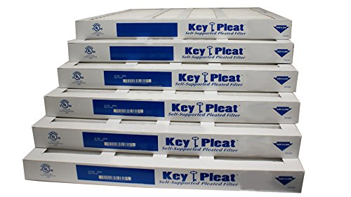 "Sterling Seal KP-5251525519 Purolator Key Pleat Extended Surface Pleated Air Filter, Mechanical MERV 8, 15.50"" Height, 3.75"" Thick, 24.50"" Width (Pack of 6)"